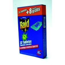 RAID ELECTRICO RECARGA 24 TABLETAS